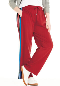 Side-Stripe Sport Knit Pants,