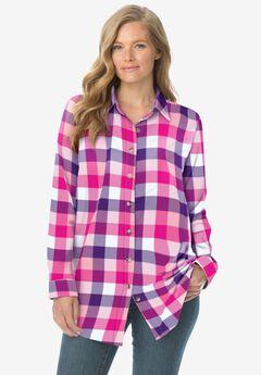 Classic Flannel Shirt, RASPBERRY SORBET MULTI PLAID