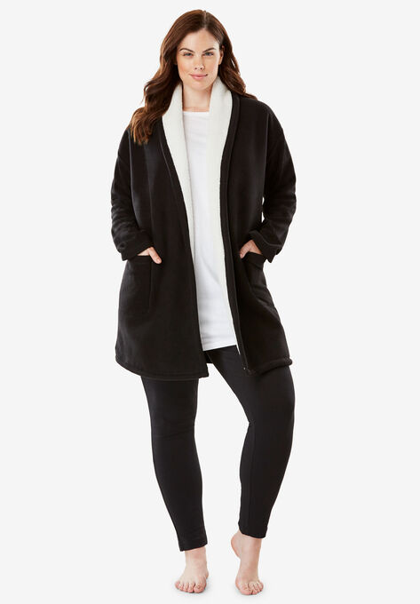 44e9afb5720 Sherpa-Lined Microfleece Bed Jacket by Dreams   Co.®