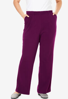 7-Day Knit Wide Leg Pant, DARK BERRY