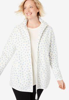 Cozy zip-front jacket in anti-pilling fleece,