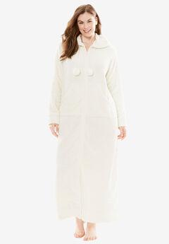 Plush Hooded Long Robe by Dreams & Co.®,