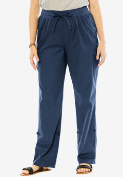 Woman Within® Pants with Convertible Length, NAVY, hi-res