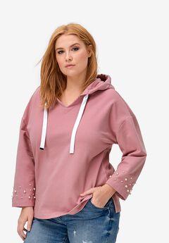 Pearl Trim Sweatshirt,