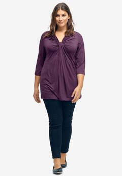 Twisted Knot-Front Tunic by Ellos®,