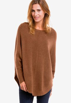 Poncho Pullover by ellos®, CHESTNUT BROWN, hi-res