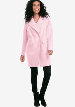Double-Breasted Coat by ellos®, COOL PINK, hi-res