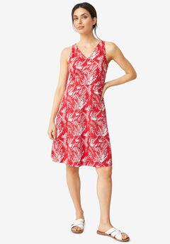 Knit Fit & Flare Dress,