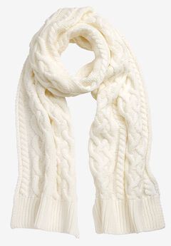 Cable Knit Scarf by ellos®, IVORY, hi-res