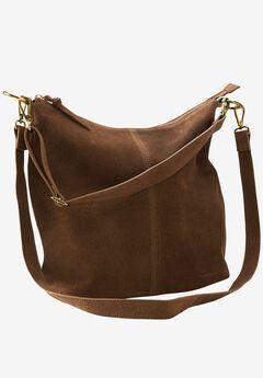 Zip Suede Hobo Handbag by ellos®,
