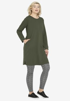 French Terry Tunic Dress,