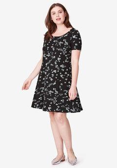 9e21418f2 Short Sleeve A-Line Knit Dress by ellos®