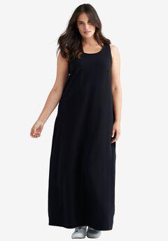 Sleeveless Knit Maxi Dress by ellos®, BLACK, hi-res