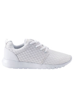 Mesh Lace-Up Sneakers by ellos®, WHITE, hi-res