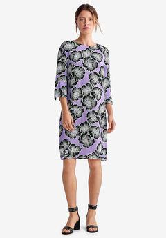 Slit-Sleeve Shift Dress by ellos®, SWEET LAVENDER FLORAL