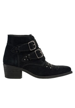 Two Buckle Suede Bootie by ellos®,