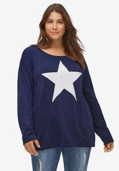 Star Applique Sweater,
