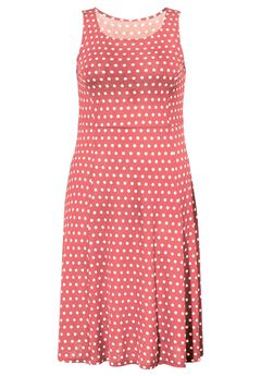 Sleeveless Fit and Flare Knit Dress by ellos®,
