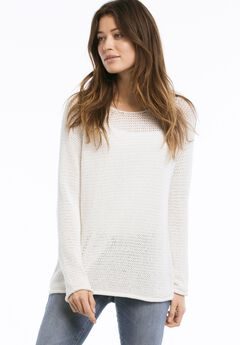 Ballet Neck Ribbon Yarn Sweater by ellos®,