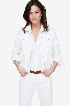 Classic Jean Jacket by ellos®, WHITE, hi-res
