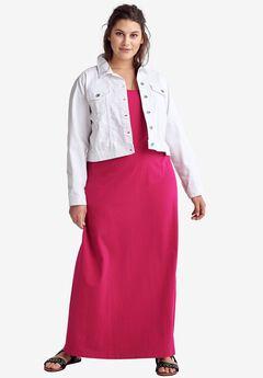 Tank Knit Maxi Dress by ellos®, RUBY ROSE