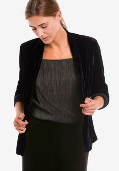 Stretch Velvet Open Blazer by ellos®,