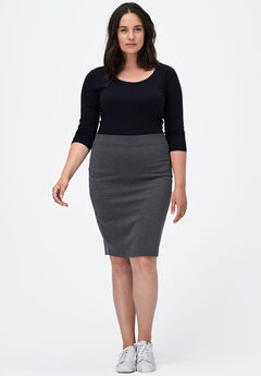 Ponte Pencil Skirt by ellos®,