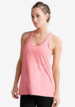Racer-Back Graphic Tank by ellos®,