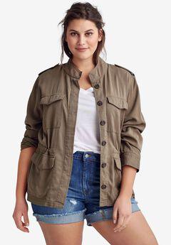 Drapey Military Jacket By Ellos®,