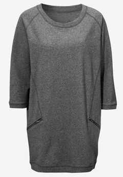 French Terry Zip Pocket Tunic by ellos®,
