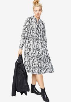 Tiered Midi Dress,