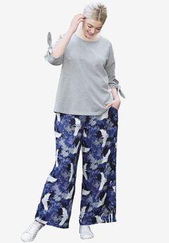 Wide-Leg Soft Pants by ellos®,