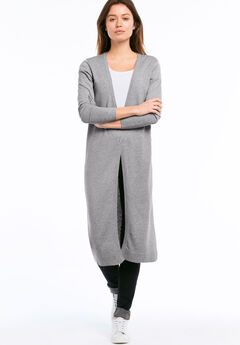 2-button Duster Cardigan by ellos®, HEATHER GREY, hi-res