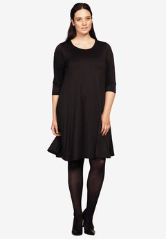 Madison 3/4 Sleeve Dress by ellos®, BLACK