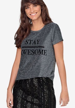Glitter Graphic Tee by ellos®,