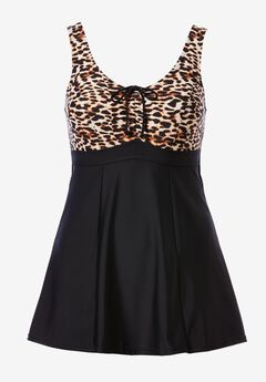 Front-Tie Swimdress by ellos®, NATURAL ANIMAL PRINT