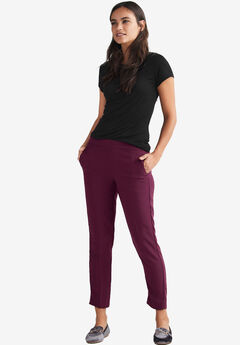 Cropped Straight Leg Pants by ellos®, MIDNIGHT BERRY
