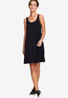 Crossover Back Tank Dress by ellos®, BLACK
