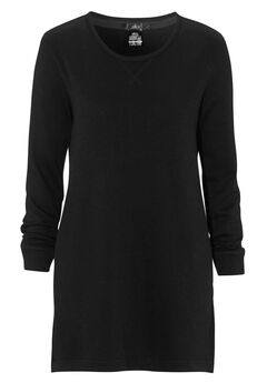 French Terry Tunic Dress by ellos®, BLACK