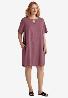 a89662a11 Linen-Blend A-Line Dress by ellos®