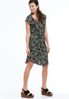 Stella Knit Dress by ellos®, BLACK FLORAL