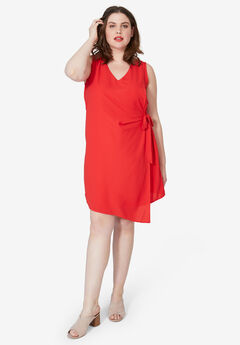 Side-Tie A-Line Dress,