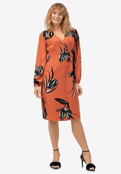 Side-Tie Faux Wrap Dress by ellos®,