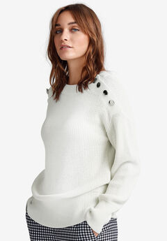 Shoulder-Button Sweater by ellos® f1822671b