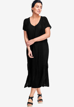 A-line Cut-Out Back Dress by ellos®, BLACK, hi-res