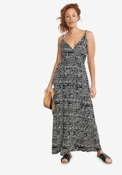 Knit Surplice Maxi Dress by ellos®,