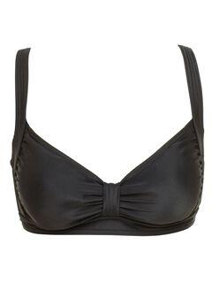 Tab Front Bikini Top by ellos®, BLACK, hi-res