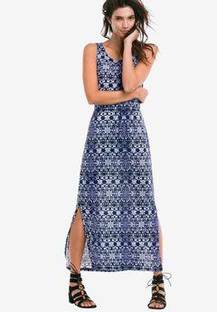 Newport Maxi Dress by ellos®, NAVY MULTI PRINT
