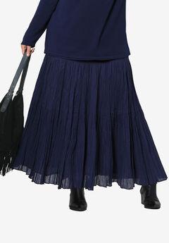 Tiered Crinkle Skirt,