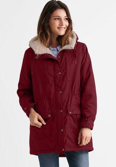 Sherpa Lined Multi-Pocket Jacket by ellos®,